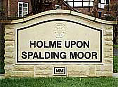 Holme upon Spalding Moor sign